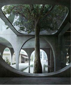 Cyprus Museum Architects: Zaha Hadid Architects @zahahadidarchitects Visualization: @mir.no • • Follow @architecture_hunter [+1,6M]