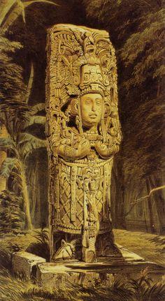 Mérida, Yucatán, Mexico - See lithographs of Maya ruins by Frederick Catherwood story and photos by John Lamkin Aztec Ruins, Mayan Ruins, Mayan History, Ancient History, Ancient Aliens, Ancient Art, Maya Civilization, Inka, Aztec Art