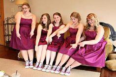 Bridesmaids in Converse
