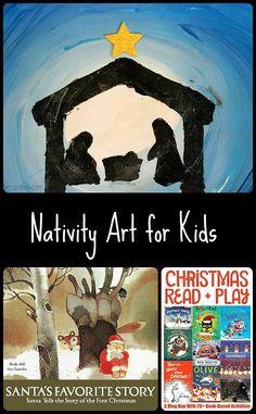 Christmas art for kids - A Nativity scene