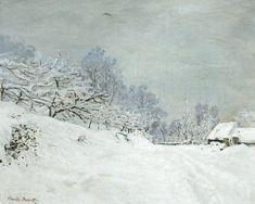Afbeelding Claude Monet - Umgebung von Honfleur bei Schnee