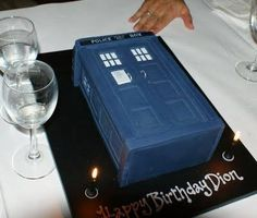 "Dr. Who cake - Google Search.  No directions, but looks like fondant.  Nicely done & neater/more ""finished"" looking than some others."