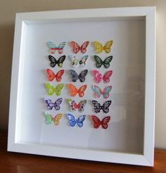 "Love these paper butterfly ""collections""! I must try it.....:) My Cricut makes beautiful butterflies! Love the simplicity of these if not the particular patterns...old book pages, maps perhaps.."