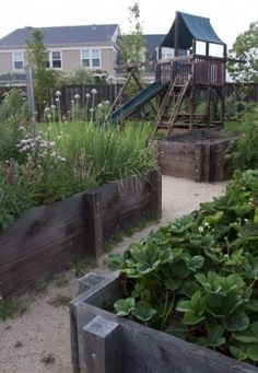 Raised beds can be anywhere from 6 inches tall to 3 feet or higher. Taller beds are helpful for people who cannot bend over or kneel on the ground.