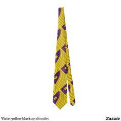 Violet yellow black corbatas