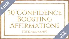 50 Confidence Boosting Affirmations for Women. Use these affirmations daily to elevate your confidence. Either read out to yourself, or listen to the audio Become your most confident self today. Affirmations For Women, Daily Affirmations, Bio Instagram, Confidence Boost, Achieve Your Goals, Other Woman, Inspire Others, Personal Development, Confident