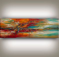 Original Acrylic Abstract Landscape Painting Modern ABSTRACT PAINTINGS Art for Sale LARGE Abstract fine art Nandita Free shipping worldwide. on Etsy, $378.00