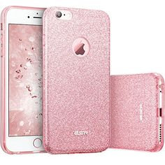 "Iphone 6s Case Esr Luxury Bling Bling Glitter Sparkle Designer Case Shockproof Shining Fashion Style For Apple Iphone 6/6s 4.7"" (rose Gold)"