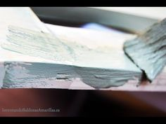 Estantería de madera decorada con pintura de tiza | Bricolaje