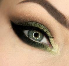 'Greenish' look by Gajewska.Wiktoria using Makeup Geek's Dirty Martini, Latte, Mocha, Pixie Dust, Shimma Shimma, Vanilla Bean and Yellow Brick Road eyeshadows.