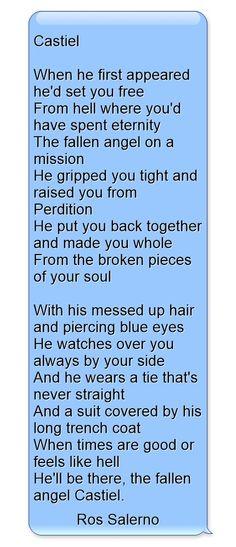 Castiel...Supernatural poem