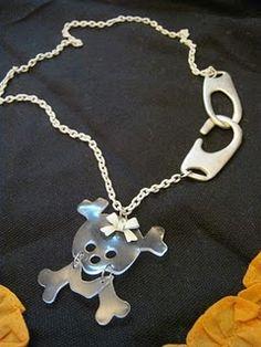 Shrink Plastic Skull Necklace
