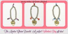Mantra charm bracelets. Great Valentine's Day gift ideas!  SHOP: www.etsy.com/shop/MyCreativeSideJewels