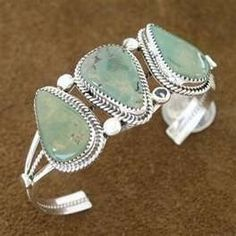 Navajo jewelry.Dry Greek Turquoise & Sterling Silver cuff
