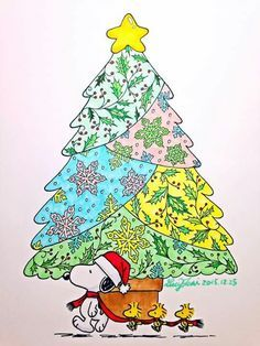 Snoopy Woodstock At Christmas 🎄❄❄