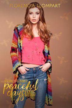 Tapado Cristine / Florencia Llompart #knitwear #handmade #Argentina #crochet #verano #patchwork #trendy