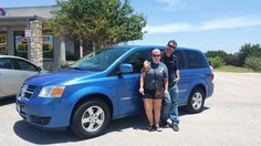 DERRICK  AND NICOLE 's new 2008 DODGE  GRAND CARAVAN ! Congratulations and best wishes from Benny Boyd Motor Company - Marble Falls and DEE NIXON.