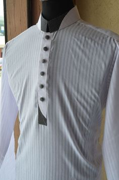 Shamis are the new brand of Shalwar Kameez and Kurtas in Pakistan. Shami's is the emerging clothing brand from Abbottabad Pakistan. Cotton Kurta Shalwar for Eid Summer Collection 2014 dresses for Men 🍃 Gents Kurta Design, Boys Kurta Design, Kurta Pajama Men, Kurta Men, Nigerian Men Fashion, African Men Fashion, Mens Fashion, Mens Shalwar Kameez, Kurta Patterns
