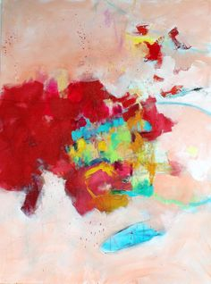 Colorful Abstract Painting Red Large on by kerriblackmanfineart, $385.00