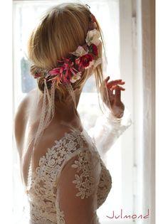 Haarkranz Brautkranz Blumenkrone *Redilia* von Julmond auf DaWanda.com