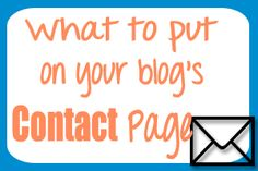 What to put on your Blog's Contact page