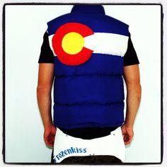 Colordo Flag down vest custom made on Etsy, $563.00
