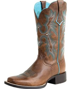 I love Ariat boots and the teal makes me happy. I want these!! They aren't even badly priced at $170. Mama needs a new pair of boots!