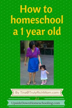 How to Homeschool a One-Year Old {Developmental Activities for Young Learners} - Upside Down Homeschooling