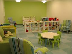 furniture, layout, colors    church children's room - Google Search