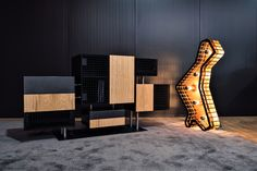 Resulting from the reuse of production surplus and creativity, the SAT-CAT Floor Lamp is the ideal piece for contemporary spaces. Its angular and irregular design allows reinventing the concept of lighting. Ceiling Lamp, Lighting, Lamp, Contemporary, Home Decor, Floor Lamp, Flooring, Reuse, Room Divider