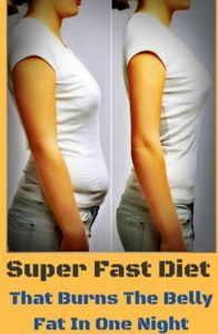 Super Fast Diet That Burns The Belly Fat In One Day