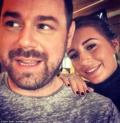 Doting: Danny and Dani have a close bond, which lead to the legendary TV hardman 'choking up' when he saw his little girl going through a hard time in the villa Love Island 2018, Little Books, Celebs, Celebrities, Little Girls, Handsome, Daughter, Actors, Bond