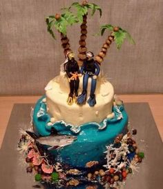 Cake for scuba divers