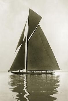 Shamrock IV, 1914, by Beken of Cowes (Tom Parnell 1882-1960) was one of the crew.