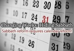 Changing Weeks: Hiding Sabbath eCourse