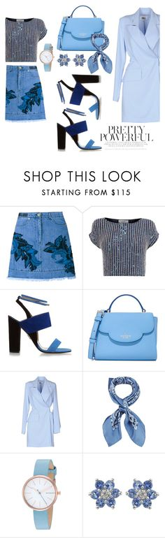 """""""Blue power heart"""" by xhostylist ❤ liked on Polyvore featuring House of Holland, Coast, Paul Andrew, Kate Spade, MM6 Maison Margiela, Manipuri, Skagen, denim, beautiful and Blue"""
