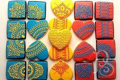 Colorful Wedding Cookies