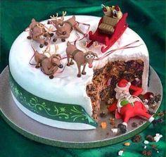 Drunk Santa cake