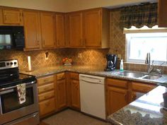 Image result for what backsplash goes with granite countertops