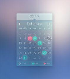 #calendar widget #template