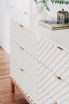 IKEA carved wood dresser hack