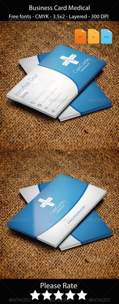 Medic  Minimal Medical Business Card  Business Cards Minimal