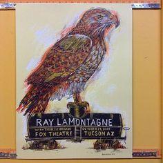 Ray Lamontagne 10/23/14 Tuscon AZ gig poster