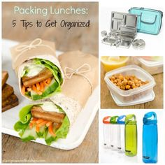 5 Tips to Get Organized for Packing Healthy School Lunches #plantbased #lunches…