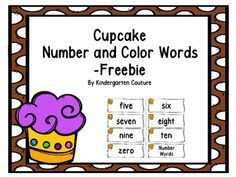 Here are some Cupcake Number and Color Words. They go along with my Cupcake Word Wall Letters and 100 Fry Words. They can also be used for flash cards or a memory game.Cupcake Theme Word Wall Letters and 100 Fry WordsCupcake Make 10 BookletCupcake Theme Color Word PostersCupcake Theme RulesCupcake Theme Behavior Clip Chart