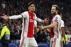 Photos Foot - Edson Alvarez et Daley Blind (Ajax) Amsterdam, Daley Blind, Match En Direct, Afc Ajax, Champions League, Football Team, Blinds, Nba, Sports