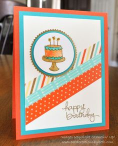 Birthday Card, Stampin Up, Endless Birthday Wishes, FMS140, Card Creations by Beth