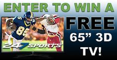 """Enter to win a Samsung 65"""" LED Smart 3D TV  from 247Sports! Share with your friends to increase your chances of winning!"""