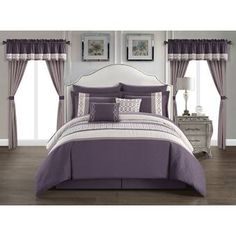 Shop for Chic Home Mykie 20 Piece Comforter Set Color Block Embroidered. Get free delivery On EVERYTHING* Overstock - Your Online Fashion Bedding Store! Get in rewards with Club O! Online Bedding Stores, Queen Comforter Sets, Bedding Sets, Bed In A Bag, Ruffle Bedding, Bed Styling, Fashion Room, Bed Spreads, Duvet Cover Sets