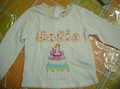 Camiseta Cumpleaños Fondant!! / Cosetes de Marta - Artesanio